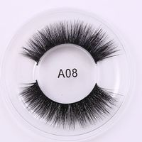 1 Pair Fashion Natural Soft Thick Women Handmade 3D Mink Fur False Eyelashes Multilayers Thick Extension Makeup Tools Beauty False Eyelashes