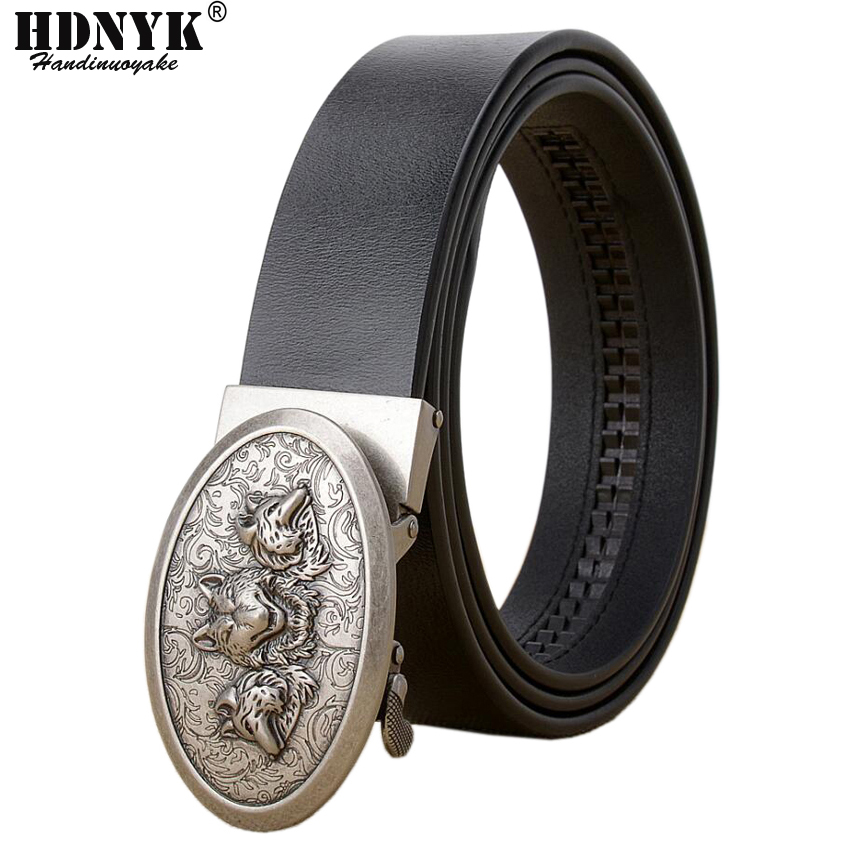 Apparel Accessories 100% True Silver Gold Buckle Genuine Leather Mens Belts Luxury 2019 New Designer Scorpion High Quality Ceinture Blue Strap Dragon Wolf Clearance Price