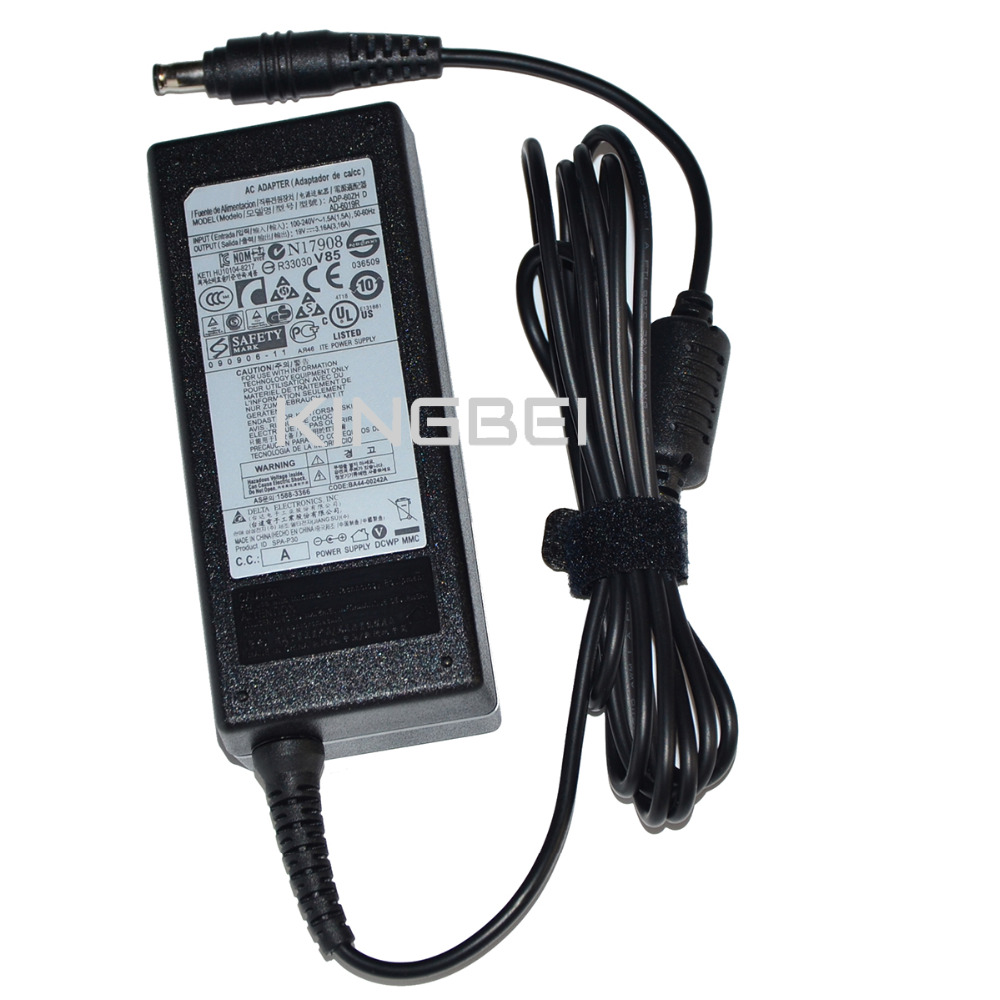 Generic Laptop Adapter AD-6019 ADP-60ZH AD-6019R CPA09-004A PA-1600-66 APD-60HZ AC Charger for samsung 19V 3.16A Power Supply ad 240u