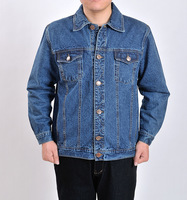 male button casual blue denim jacket 2018 Autumn and winter Large size jacket coat men's outwear cowboy jackets clothing S 4XL
