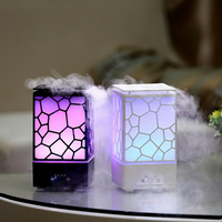 Colorful Night Light Water Cube Aromatherapy Diffuser Machine Ultrasonic Air Humidifier Difuser Aromatherapy Home Use