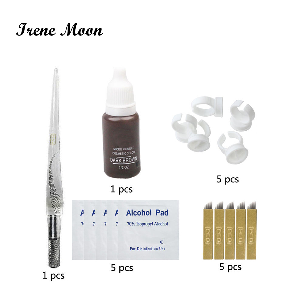 Permanent Makeup Microblading Eyebrow Kit 3D Eyebrow Tattoo Needles Tattoo Pen Microblading Pigment Microblading Accessories