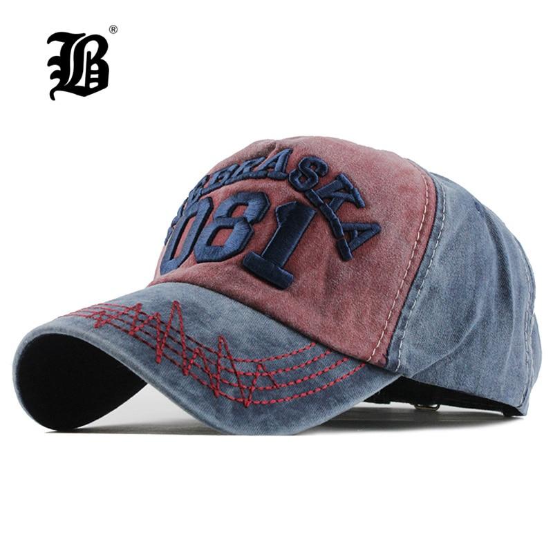ca91d132 [FLB] Summer Baseball Cap Embroidery wash Cap Hats For Men Women Snapback Gorras  Hombre Casual Hip Hop Caps Dad Casquette F123
