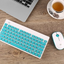 Mini Wireless Gaming Keyboard Mouse Combo Set USB 2 4Ghz 1500DPI Ultra thin Multimedia Set for