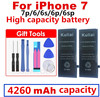 New Original Kuliai AAAAA Quality Phone Battery for iphone 6 6s 6sp 6P  7 7p High Real Capacity Zero Cycel With Repair Tools Kit