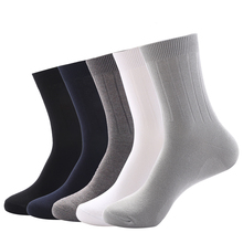 Autumn Winter High Quality Men Business 100 Cotton Socks 2014 New Brand Male Solid Color In