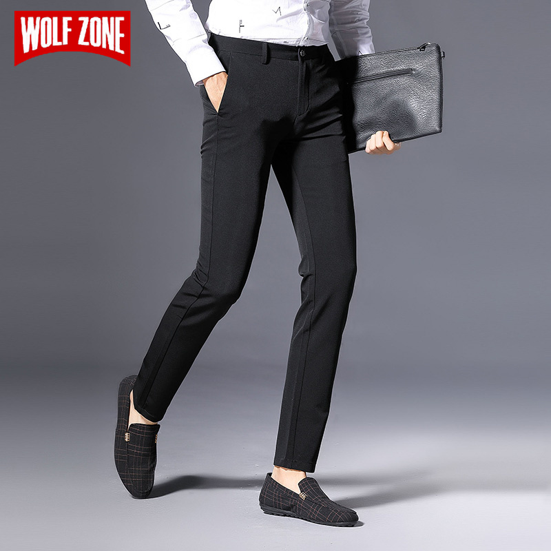 2020 Spring And Autumn Classic Casual Pants Men Fashion Zipper High Quality Mens Business Brand Clothing Slim Fit Male Trousers