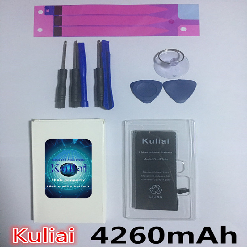 Image 4 - Kuliai オリジナル携帯電話のバッテリー iPhone 6 6 s 6 s プラス 7 5 交換バトリー高容量 4260 mah の内蔵 Bateria の -    グループ上の 携帯電話 & 電気通信 からの 携帯電話電池 の中
