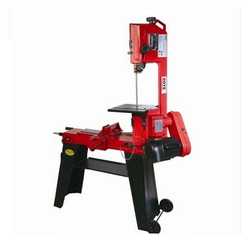 Machine à scier les bandes de métal/bois Double 750 W scie à ruban verticale Machine à bois scie à ruban Machine à découper outils électriques GFW5012