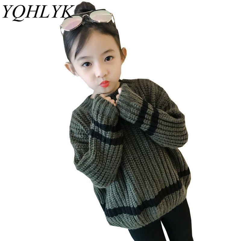 New Fashion Autumn Winter Girl Sweaters 2018 Children Long-Sleeve Round Neck Knit Sweater Tosp Casual Joker Kids Clothes W114 laptop lcd led display screen for lg lp133wh1 tl a1 13 3 inches with right interface 40 pin