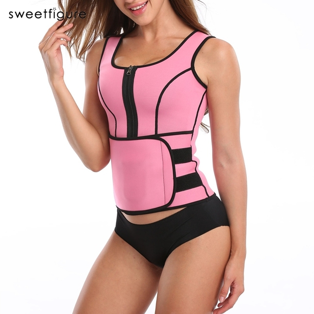 1115c08b075 Hot Shapers Neoprene Sauna Waist Trainer Vest Workout Shaperwear Slimming  Adjustable Sweat Belt Fajas Body shaper Slim Underwear