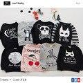 2016 owlbaby bobo choses camiseta panda morango sweatershirt meninos meninas top