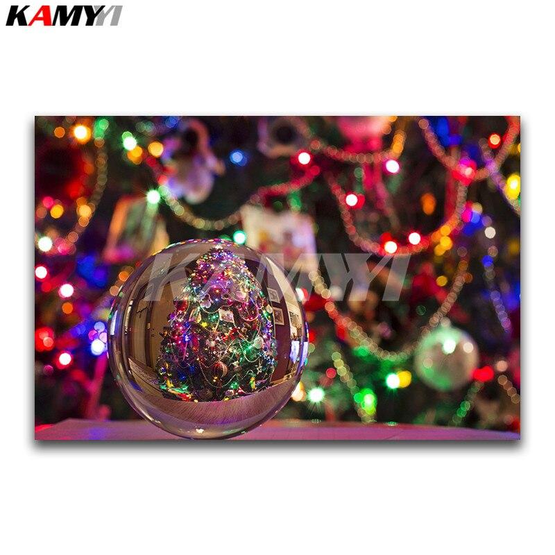 Piazza piena di Diamante ricamo punto Croce di Cristallo Pieno Diamante Rotondo mosaico albero Di Natale decor pittura Diamante DIY palla