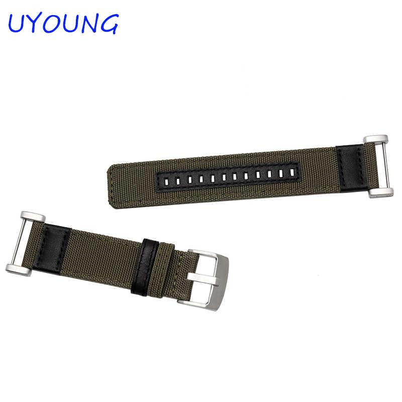 Nieuwkomers kwaliteit jeep nylon horlogeband 24mm voor suunto core voor mens smart horloges accessoires voor essentiële