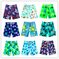 2018 Vilebre Men Beach Board Shorts Mappemonde Dots Turtle Octopussy Et Coquillages Mens Bathing Shorts 100% Quick Dry Swimwear
