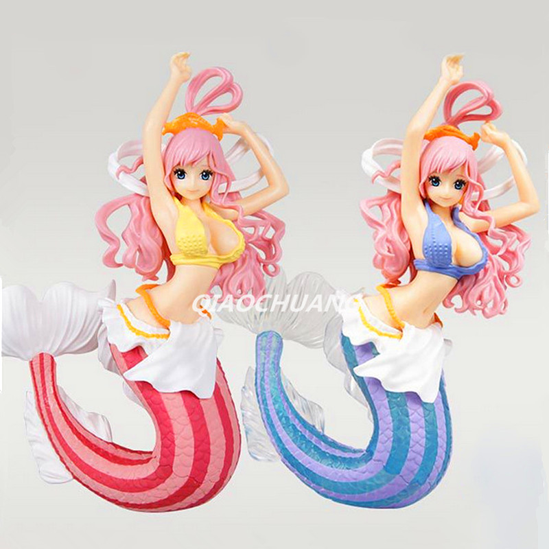 Anime ONE PIECE CREATOR X CREATOR Mermaid Princess SHIRAHOSHI PVC Action Figure Collectible Model Toy Pink/Blue 16cm Boxed W129 starz anime one piece figure mermaid princess shirahoshi pvc sexy action figure the grandline lady special model collection toys