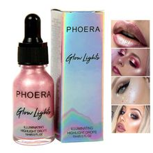 Sexy Women Beauty Liquid Highlighter Make Up Highlighter Cream Concealer Shimmer Face Glow Ultra-concentrated illuminating bronz