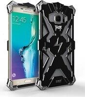 Zimon Galaxy S7 kenar Thor Için Lüks Ağır Zırh Metal Alüminyum telefon Kapak Kılıfları Samsung Galaxy S7 S6 Not 5 kenar artı