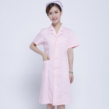 Female intern nurses wear fashionable white gown, short sleeves and sleeve tattoo clothing store medical dress doctor