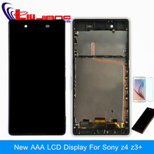 Original quality LCD Display For Sony Z4 E6553 E6533 LCD Touch Digitizer Screen with frame Assembly Free Shipping