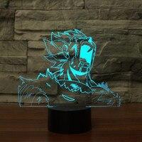 Novelty 3D Led Visual Colorful Dragon Ball Light Fixture USB Table Vegeta Lamp Creative Gifts Bedside