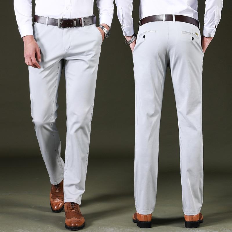 937953335d133 Spring Summer black Casual Pants Men Cotton Slim Fit Chinos Fashion Men  Pants Trousers Male Brand Jogger Clothing Plus Size 42