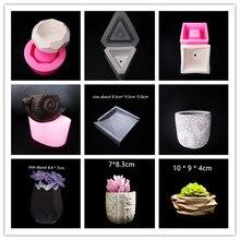 Concrete Flower Pot Molds for flowerpot making DIY Cement Va