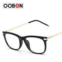 OOBON 2017 Latest Trend Cross Eye Glasses Frames For Women UV400 Men Chrome Retro Eyeglasses Femininos