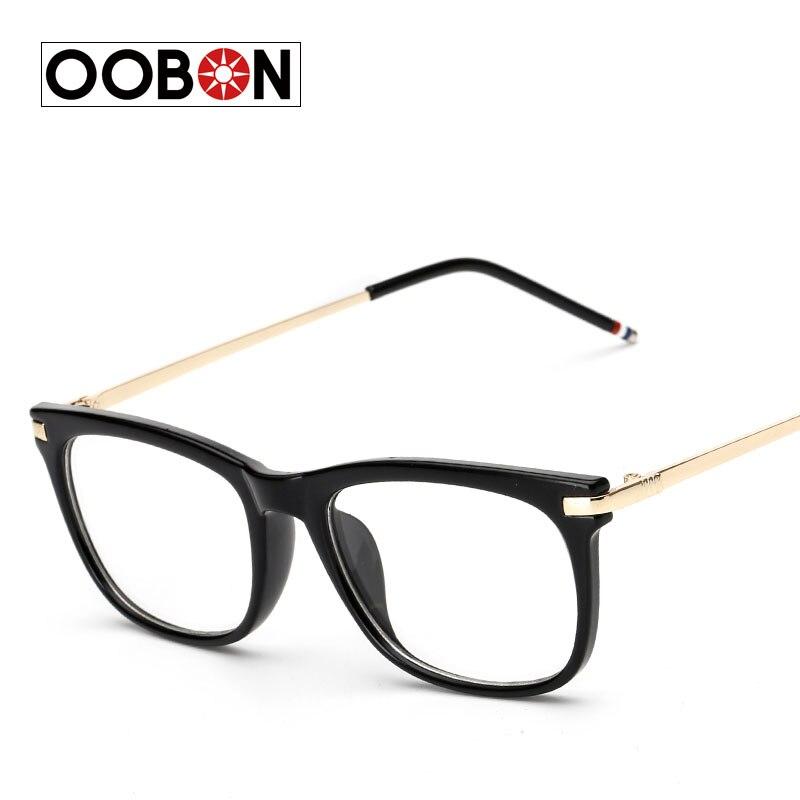 52b116dd556 OOBON 2017 Latest trend cross eye glasses frames for women UV400 men Chrome  retro eyeglasses Femininos