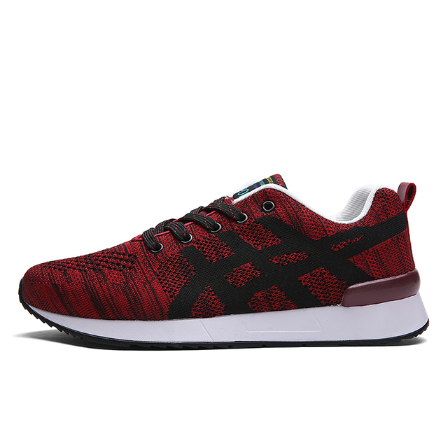 Man Light Weight Hemp Fashion Summer Canvas Men Casual Lace Ups Male Fly Knit Colorful Shoes Zapatos Pattern Soft Blue Red Black