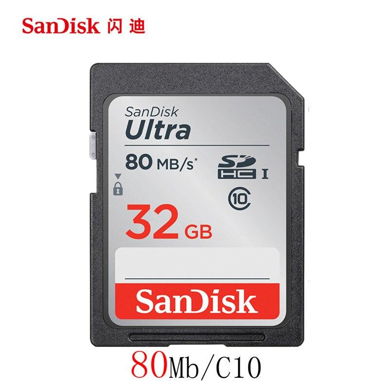 Оригинальный SanDisk SD карты 128 г 64 ГБ 32 ГБ 16 ГБ Class 10 Ultra на очень высоком Ск ...
