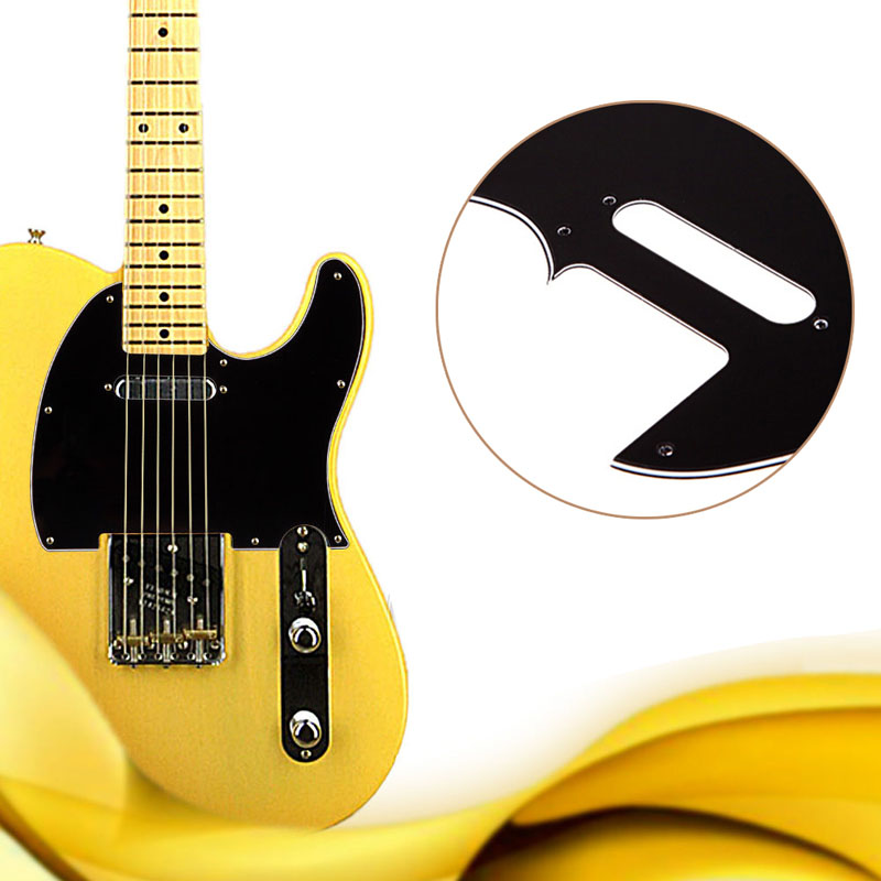 3 Ply Tele Style Electric Guitar Pick Guard Scratch Plate Fit Telecaster Black High Quality Guitar Pickguard