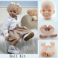 Soft Vinyl Toddler Doll Kits Unpainted Blank DIY Reborn Baby Doll Accessories For 24 inches Baby Dolls