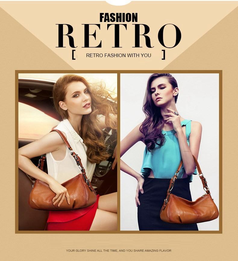 Ladies Handbags 2016 New Womens Bags And Purses Solid Women Leather Shell Bag Bags Zipper Retro Designer Handbags High Quality_030