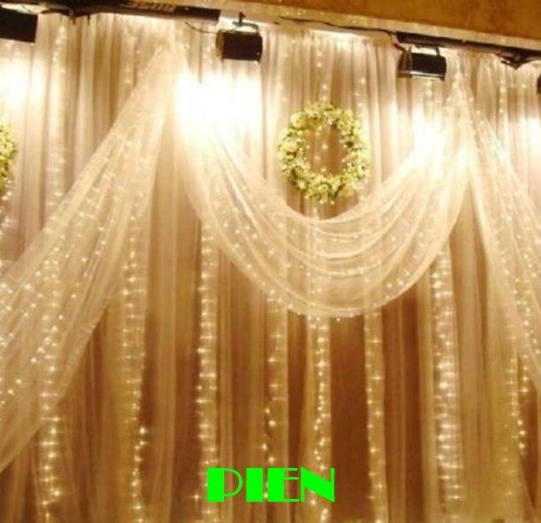 300LED Curtain lights for wedding Icicle LED String Fairy Light christmas party home decoration 3m*3m 3mx3m 220V 110V Free shipp 6m x 3m led curtain waterfall fairy lights christmas party wedding holiday decoration lighting icicle waterfall light 110v 220v