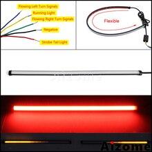 Luces traseras flexibles de 45 cm para freno de motocicleta tira de LED con interruptor secuencial luz trasera de parada estroboscópica con luz de giro de flujo