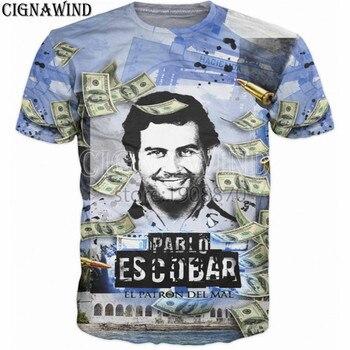 Fashion T shirt pablo escobar 3D tshirt Printed T Shirts Good Quality Hip Hop style tShirts summer top unisex streetwear tops predator concrete jungle figure
