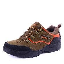Новый осень-зима горных ботинок Для мужчин S Треккинговые ботинки для Для мужчин коричневый/зеленый кожаный мужской Уличная обувь Кружево до Пеший Туризм Охота Сапоги и ботинки для девочек Для мужчин