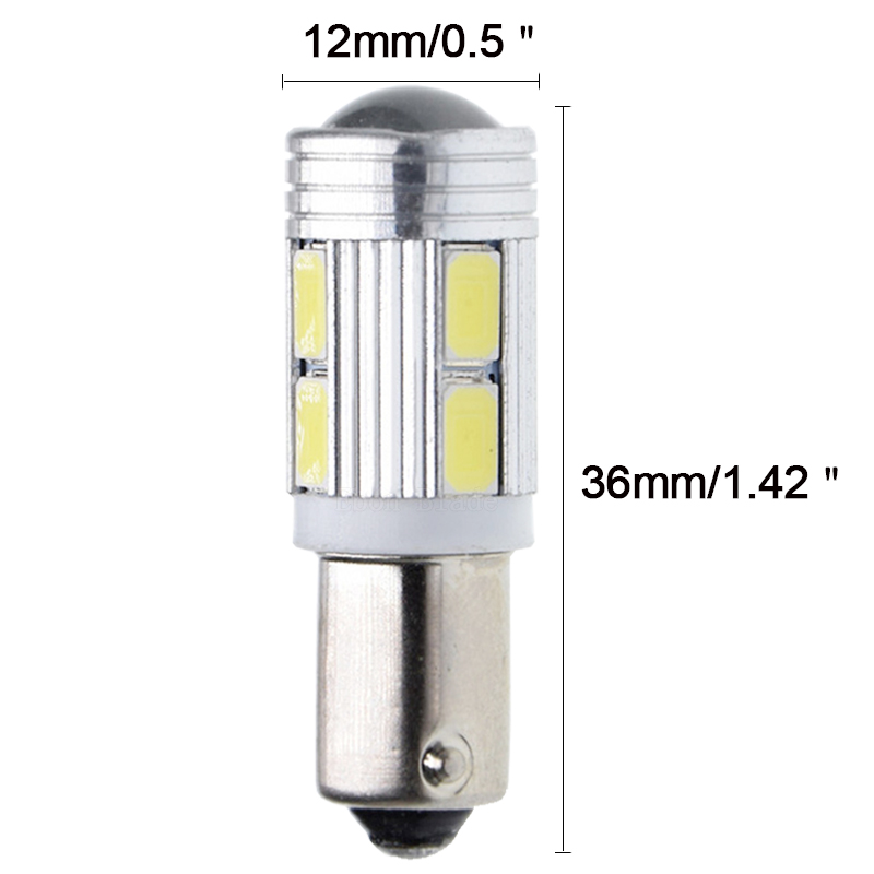 Image 3 - 10Pcs New Bulb 5630 5730 SMD 10 LED H6W BAX9S 150 Degrees LED Lamp For Parking Light /DRL/Front rear Turn Signal lights 12V DC-in Signal Lamp from Automobiles & Motorcycles