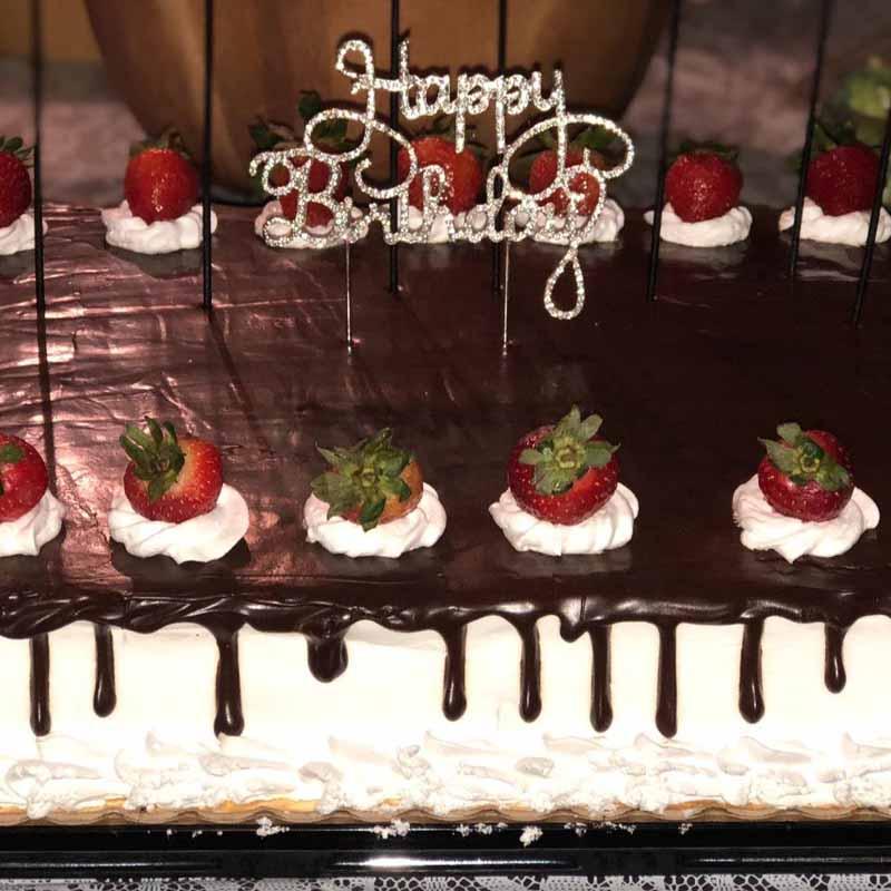 Discount Silver Rhinestone Happy Birthday Cake Topper Kid Boy Girl