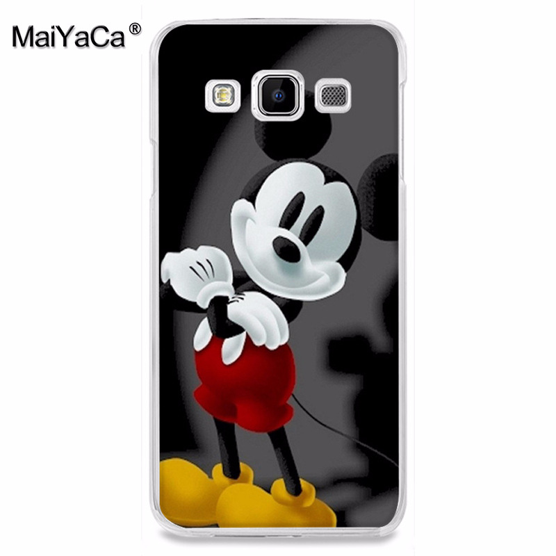 MaiYaCa cartoon Beauty Beast Bishoujo Kissing Mickey Minnie Mouse Phone case for samsung A3 A7 A8 A9 A5 note 4 note5 case Cover