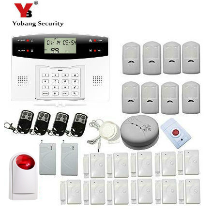 YobangSecurity LCD Screen GSM SMS Wireless Alarm Security Home System Support English Russian Spanish French Italian Czech 16 ports 3g sms modem bulk sms sending 3g modem pool sim5360 new module bulk sms sending device