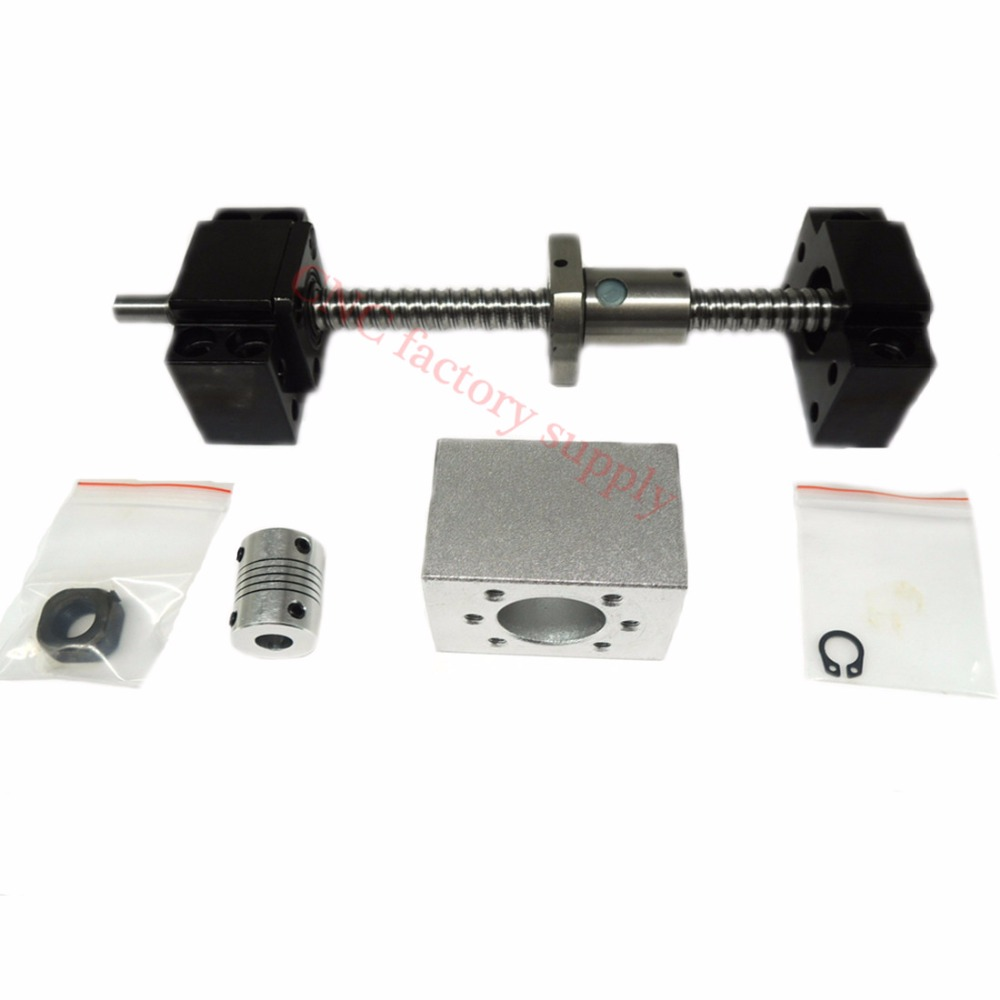 SFU1204 set SFU1204 L 700mm rolled ball screw C7 with end machined 1204 ball nut nut