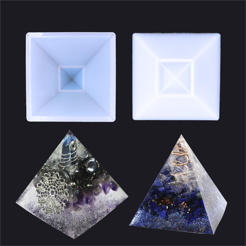 1PC Pyramid Craft DIY Transparent UV ResinepoxySilicone Combination Molds For DIY Making Finding Accessories Jewelry