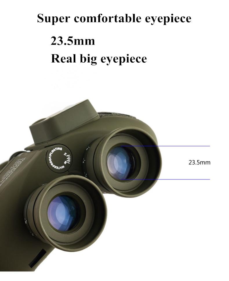 hd telescópio qualidade poderosa binocular à prova dbinoágua com bússola digital