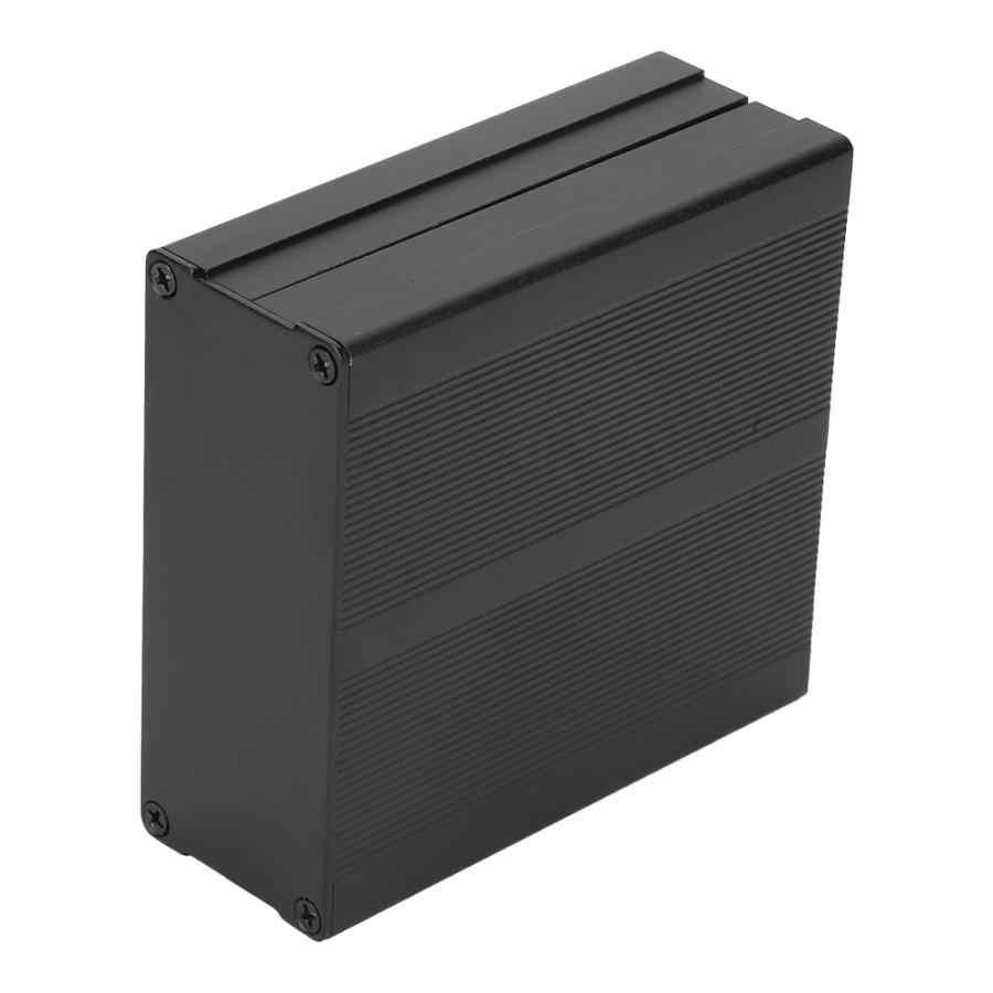 40*97*100 مللي متر ماتي الأسود المطبوعة لوحة دوائر كهربائية أداة مربع GPRS الألومنيوم مربع الضميمة مشروع الإلكترونية حالة