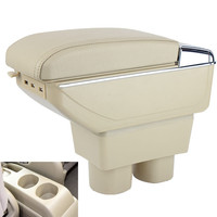 Leather Car Center Console Armrests Storage Box for Nissan Tiida Nissan Sylphy Sedan Free Shipping