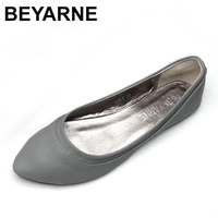 Womens Ballet Flats Slip On Faux Leather Solid Ballerina Shoes For Women Casual Comfort Autumn Ladies