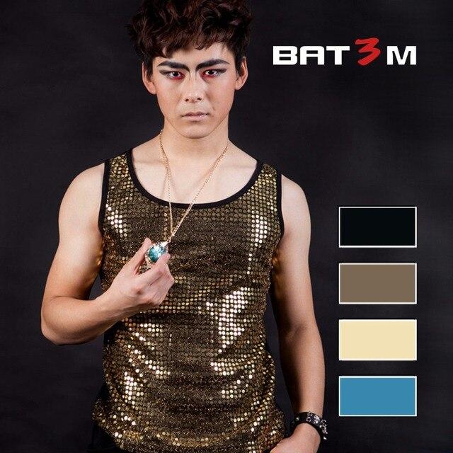 gold black blue yellow vest tide male and female Korean fashion personality offbeat female singer fan bar DJ  dancer fashion