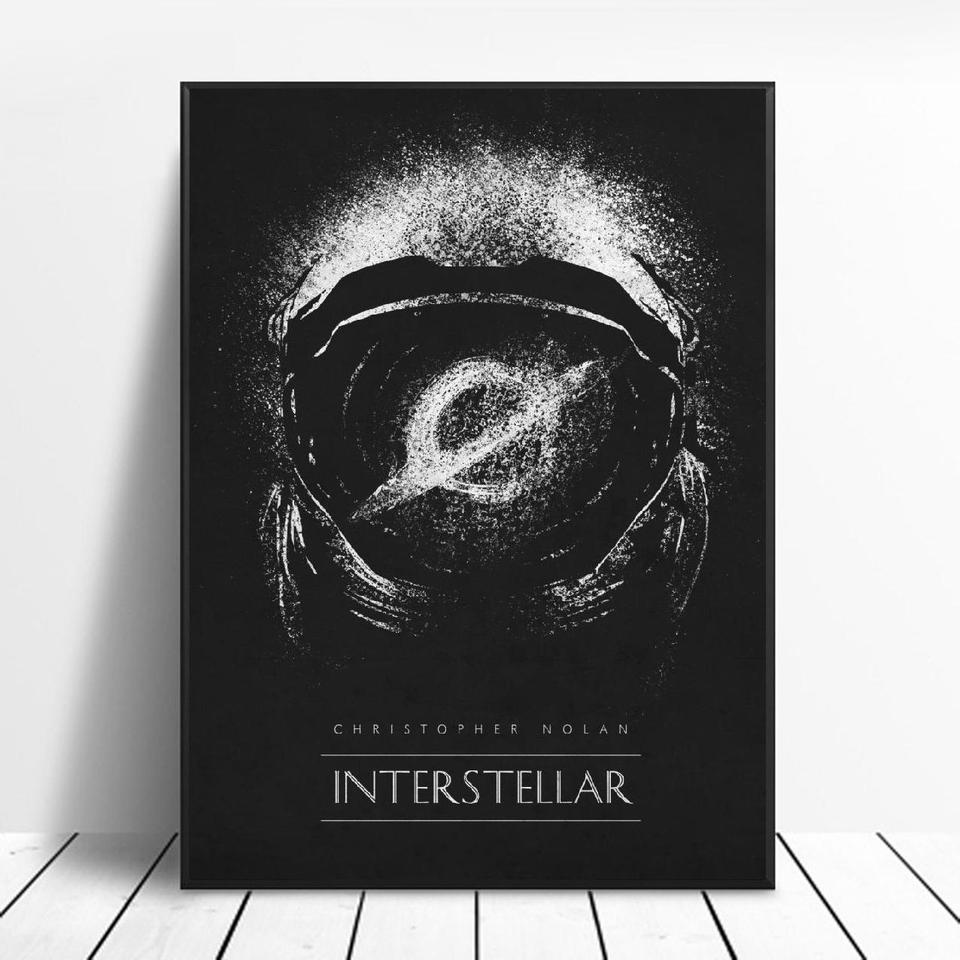 Interstellar Black White Classic Movie Posters Silk Wall Art Decor Painting No Frame Painting Calligraphy Aliexpress
